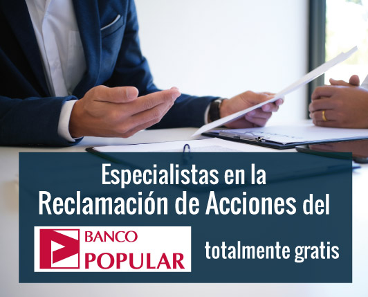 reclamacion acciones banco popular
